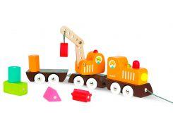 Поезд на магнитах, игрушка-каталка, Janod