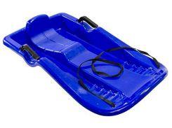 Санки пластиковые с веревкой, Лодка, синие (до 90 кг), Kronos Toys