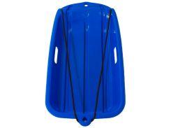 Санки-ледянка пластиковые с веревкой, синие (до 90 кг), Kronos Toys