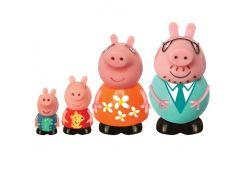 Семья Пеппы, набор игрушек-брызгунчиков (4 фигурки). Peppa Pig