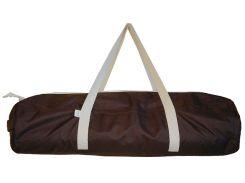 Сумка-чехол для йоги коврика Choco, коричневый с белой молнией и ручками, Foyo