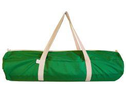 Сумка-чехол для йоги коврика Green W, зеленый с белой молнией и ручками, Foyo