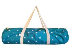 Сумка-чехол для йоги коврика Morning Stars, голубой со звездами с белой молнией и ручка, Foyo
