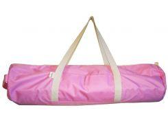 Сумка-чехол для йоги коврика Pink, розовый с белой молнией и ручками, Foyo