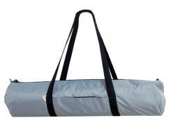 Сумка-чехол для йоги коврика Silver B, серый с черной молнией и ручками, Foyo