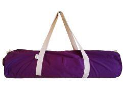 Сумка-чехол для йоги коврика Sweet Plum Long, сливовый с белой молнией и ручками, Foyo