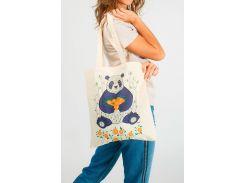 Эко сумка с рисунком панды, Диво