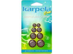 Универсальные контейнеры Karpela Cont с круглыми отверстиями 4 штуки коричневые