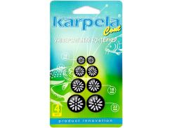 Универсальные контейнеры Karpela Cont с удлиненными отверстиями 4 штуки черные