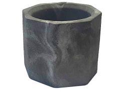 Кашпо Tormund concrete восьмигранное, серо-белое (БК0012)