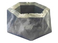 Кашпо Tormund concrete двенадцатигранное, серо-белое (БК0015)