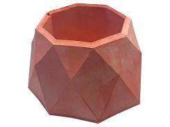 Кашпо Tormund concrete многогранное, красное (БК0021)
