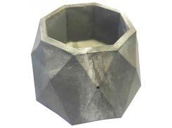 Кашпо Tormund concrete многогранное, серо-белое (БК0020)
