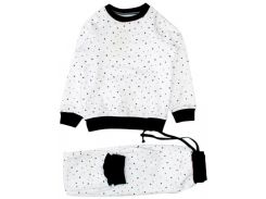 Пижама Little stars, белая (122), MISHKA