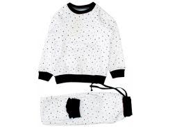 Пижама Little stars, белая (128), MISHKA