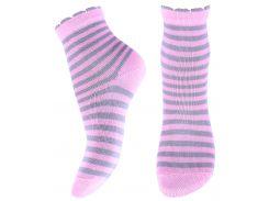 Носки детские в полоску, Африка, розовые, размер 16 (24-26)