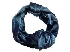 Тюрбан бархатный My Scarf, синий (1003)