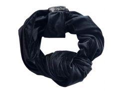 Тюрбан плюш бархатный My Scarf, черный (1001)