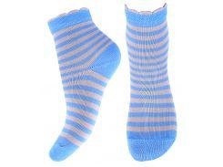 Носки детские в полоску, Африка, голубые, размер 16 (24-26)