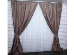 Шторы блэкаут Сакура 465ш VR-Textil 2 шт. 1,5 × 2,7 м, цвет какао (2150)