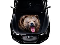 3д наклейка на капот Бурый медведь (1200 × 1500 × 0.15 мм), Grandmaster3d