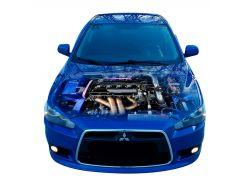 3д наклейка на капот Двигатель Mitsubishi (1250 × 1550 × 0.15 мм), Grandmaster3d