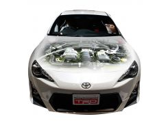 3д наклейка на капот Двигатель Тойота (1200 × 1550 × 0.15 мм), Grandmaster3d