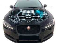 3д наклейка на капот Двигатель Ягуар (1310 × 1550 × 0.15 мм), Grandmaster3d