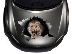 3д наклейка на капот Леопард 9 (680 × 1000 × 0.15 мм), Grandmaster3d
