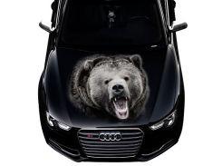 3д наклейка на капот Медведь (1200 × 1500 × 0.15 мм), Grandmaster3d