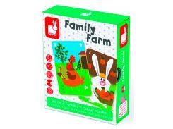 Happy Families Ферма, настольная игра, Janod