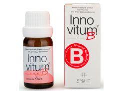 InnovitumB витамины В6, В9, В12, суспенция 4 мл, функциональное детское питание (5905279383142)