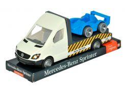 Mercedes-Benz Sprinter эвакуатор (белый) на планшетке, 1:24, Tigres