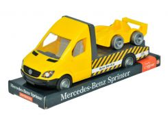Mercedes-Benz Sprinter эвакуатор (желтый) на планшетке, 1:24, Tigres