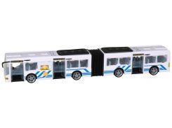 Автобус Teamsterz со светом и звуком белый 46 см (1416566)