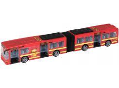 Автобус Teamsterz со светом и звуком красный 46 см (1416566)