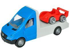 Автомобиль Mercedes-Benz Sprinter (синий эвакуатор), 1:24, Тигрес