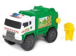 Автомобиль Мусоровоз с баком (звук, свет), 20 см, Dickie Toys