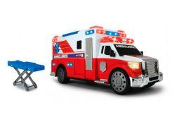 Автомобиль скорой помощи с носилками (звук, свет), 33 см, Dickie Toys