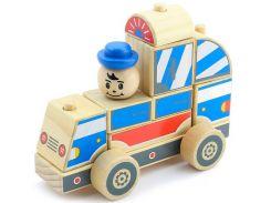 Автомобиль-конструктор Полицейская машина, Мир деревянных игрушек