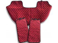 Автомобильные накидки Eva Car из Антара комплект на задние сиденья цвет красный (EK-011)