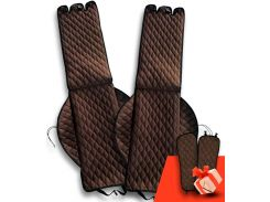 Автомобильные накидки Eva Car из Антара комплект на передние сиденья цвет коричневый (EK-009)
