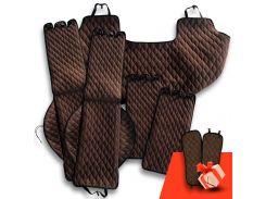 Автомобильные накидки Eva Car из Антара комплект Стандарт цвет коричневый (EK-004)