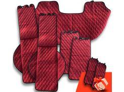 Автомобильные накидки Eva Car из Антара комплект Стандарт цвет красный (EK-001)