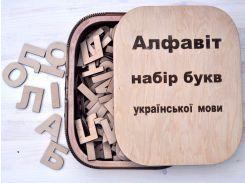 Алфавит из фанеры Будинок мрій Английский (bud-011)