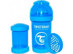 Антиколиковая бутылочка 180 мл, голубая, Twistshake