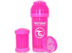 Антиколиковая бутылочка 260 мл, розовая, Twistshake