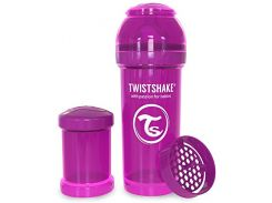 Антиколиковая бутылочка 260 мл, фиолетовая, Twistshake