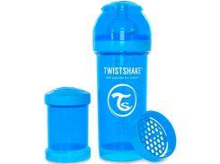 Антиколиковая бутылочка 260мл, голубая, Twistshake