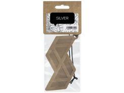 Ароматизатор для автомобиля кожаный, Серебро, ACappella
